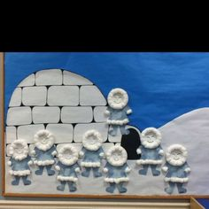 Image result for how to make a igloo for bulletin boards