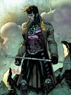 Gambit by Jim Lee, colours by Marte Garcia * - Art Vault Comic Book Artists, Comic Book Characters, Comic Artist, Marvel Characters, Comic Books Art, Gambit Marvel, Gambit X Men, Marvel Comics Art, Marvel Heroes