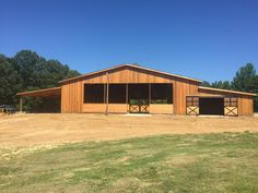 Horse arena and stalls