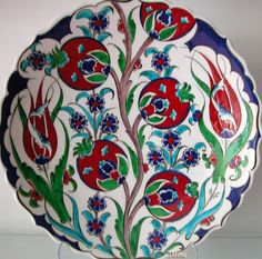 Ceramic Tile Art, Ceramic Painting, Mosaic Art, Clay Plates, Ceramic Plates, Ceramic Pottery, Turkish Tiles, Turkish Art, Pomegranate Art