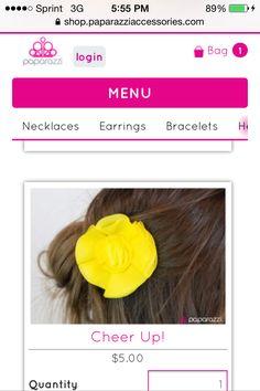 New spring hair clip.