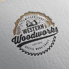 really like how unique this design is # woodworking logo I need a rustic logo designed for my custom woodworking buisness Woodworking Logo, Woodworking Workshop, Woodworking Furniture, Rockler Woodworking, Woodworking Fasteners, Woodworking Apron, Woodworking Equipment, Woodworking Machinery, Woodworking Projects