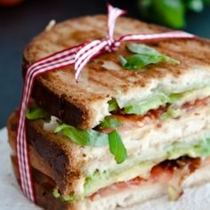 Bacon Tomato and Avocado Panini, Gluten Free