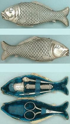 ~Victorian fish sewing kit | The House of Beccaria#