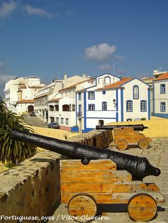 Sines walls and defensive weapens from many centuries ago - Portugal