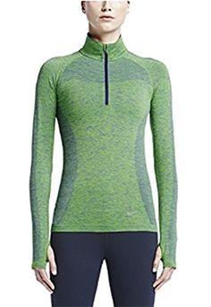 Amazon.com  Nike Womens DriFit Knit Half Zip Element Running Long Sleeve  Shirt (Medium 757fec1ae