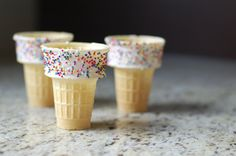 How to Make Sprinkle Ice Cream Cones