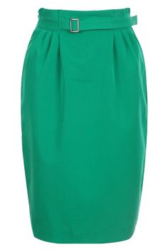 Pleat High Waist Green Skirt  $38.00