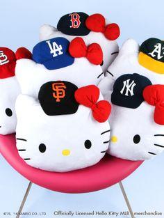 #HelloKitty MLB throw cushions and more baseball fun...pick your team!