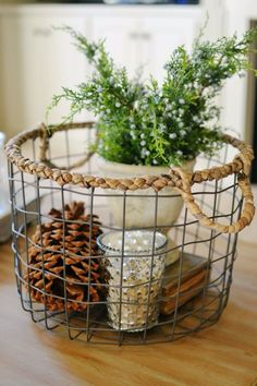 Creative Crafts Made With Baskets - Chicken Wire Basket Christmas Decor - DIY Storage and Organizing Ideas, Gift Basket Ideas, Best DIY Christmas Presents and Holiday Gifts, Room and Home Decor with Step by Step Tutorials - Easy DIY Ideas and Dollar Store Crafts http://diyjoy.com/diy-basket-crafts