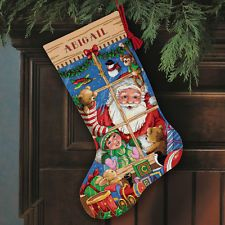 Dimensions D08818 Santa's Toys Christmas Stocking Counted Cross Stitch Kit 41cm