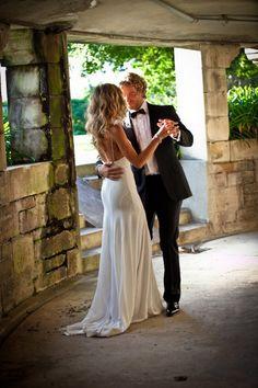 Sexy yet elegant wedding dress