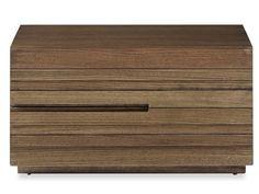 Ledge Bedside Table (2 drawer)