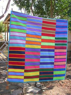 Stripes Art quilt too, but it's the wonderful color combinations that fascinate me.Art quilt too, but it's the wonderful color combinations that fascinate me. Strip Quilts, Quilt Blocks, Quilting Projects, Quilting Designs, Quilting Ideas, Jellyroll Quilts, Scrappy Quilts, Homemade Quilts, Quilt Modernen