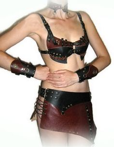 Steampunk costume steampunk bra steampunk style by FamilySkiners