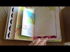 Fun colorful Junk journal for my trip. - YouTube