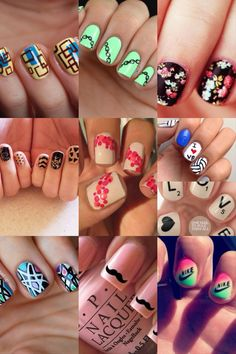 30 best floral manicures   page 3 nail art pinterest