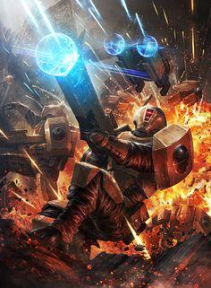 Fire Warrior Elite by ameeeeba on DeviantArt