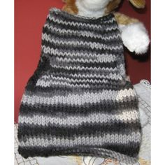 Handmade Dog / Cat Clothing - Knit Pet Pullover Sweater Vest, Moonbeams Listing in the Accessories,Pets,Home & Garden Category on eBid United States | 137443053