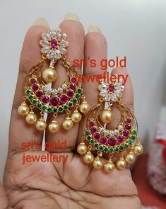 Saved by radha reddy garisa Gold Ring Designs, Gold Jewellery Design, Gold Jewelry, Fancy Earrings, Gold Earrings, Gold Necklace, Ear Cuff Jewelry, Gold Mangalsutra Designs, Wedding Sarees