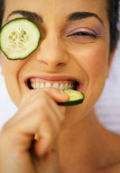 Image result for cucumbers over your eyes