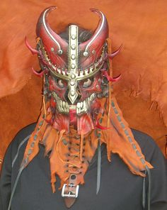 Hades Henchman - Leather mask, hand tooled and painted.