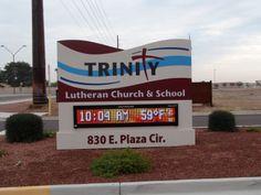 Digital Displays - Bootz and Duke Illuminated Signs, Lutheran, Duke, Display, Digital, School, Floor Space, Billboard, Peacocks