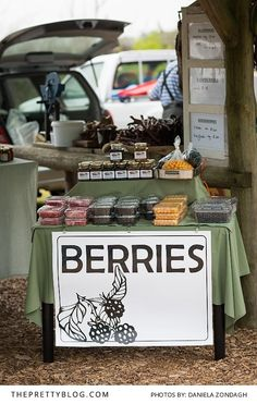 Unique Berry Stall at The Saturday Sedgefield Market | Photography by Daniela Zondagh