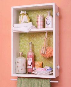 Gavetas nas paredes = um pequeno armário