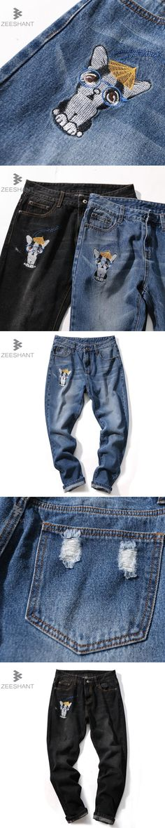 Zeeshant Brand Men Harem Jeans Pants Small Feet Male Brand Jeans Men's Youth Japanese Loose Trousers Plus Size 40 42