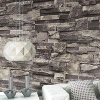Features: 1. Retro nostaia wallpaper, personality background bricks, sitting room sofa decorate a r