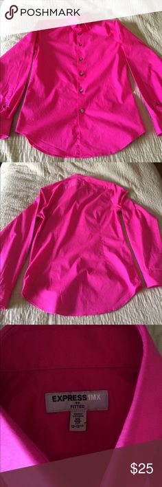 Mens Express Fitted 1MX Dress Shirt Magenta / Hot Pink Fitted Dress Shirt by 1MX Express. Great Condition!!! Make an offer! Express Shirts Casual Button Down Shirts