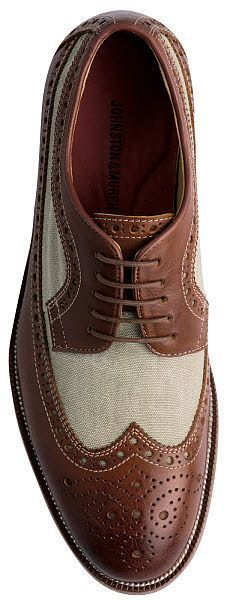 Johnston & Murphy Clayton Linen Wing Shoe