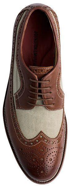 Johnston & Murphy Clayton Linen Wing Shoe
