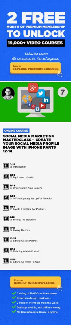 Social Media Marketing Masterclass -  Create Your Social Media Profile Image With iPhone Parts 12-14 Marketing, Business, Digital Photography, IPhone, Online Marketing, Content Marketing, Social Media Marketing, Portraits #onlinecourses #learningathomeproducts #onlinecollegemusthaves   Create your own profile without hiring photographer. Creating Your Social Media Profile Image Introduction Equipm...