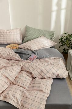 Room Ideas Bedroom, Bedroom Inspo, Bedroom Decor, Pastel Room, Minimalist Room, Aesthetic Room Decor, Duvet Cover Sets, Comforter Cover, Dorm Rooms Decorating