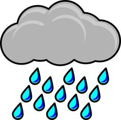 Preschool Themed Activities: Rain Theme, an ebook by Cheryl Hatch at Smashwords Black And White Clouds, Clipart Black And White, Cloud Vector Png, Rain Clipart, Cloud Outline, Its Raining Its Pouring, Rain Pictures, Cloud Drawing, Weather Unit