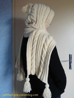mon écharpe à capuche
