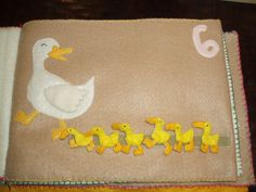 Handmade felt books for babies. These look like they can be done fairly easily..