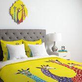 Found it at Wayfair - Clara Nilles Jellybean Giraffes Duvet Cover Collection