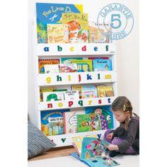 Kinder Bücherregal in Weiß –  Bücherregal und Bücheraufbewahrung aus Holz für Ihre Kinder