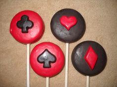 1 chocolate oreo diamond spade club heart casino lollipops lollipop   sapphirechocolates - Edibles on ArtFire