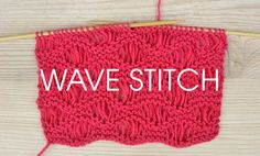 Wave Stitch from the Something For The Weekend series of free stitch patterns at Deramores.com