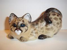 Fenton Art Glass Cat Figurine CC Hardman