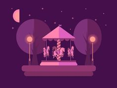 Go, horsies, go! What you see here is a flat design of carousel 3D-animated with pure CSS3. This is my second take on the amusement park-related theme for Zajno, now at night time. Stay tuned as mo...