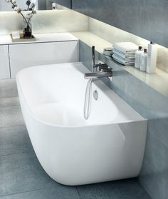 6 simple bathroom collections for the design conscious - cate st hill Elon by Conran + Partners for Victoria + Albert Baths - 5 simple bathroom collections for the design conscious Bathroom Colors, Bathroom Sets, Small Bathroom, Interior Modern, Bathroom Interior Design, Interior Colors, Minimalist Bathroom, Modern Bathroom, Victoria And Albert Baths