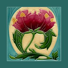 "83 Art Nouveau tile by Minton (1906). Courtesy of Robert Smith from his book ""Art Nouveau Tiles with Style""."