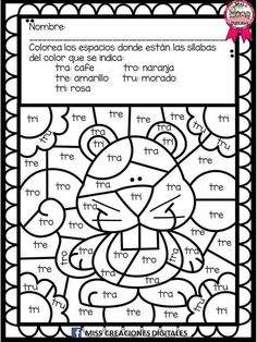Lectoescritura Kindergarten Math Worksheets, School Worksheets, Preschool Printables, Preschool Spanish, Spanish Activities, Spanish Worksheets, First Day Of Class, Spanish Language Learning, Reading Intervention