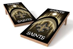 New Orleans Saints Cornhole Board Set - Arch