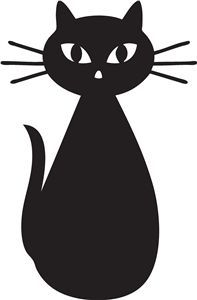 Image result for black cat silhouette